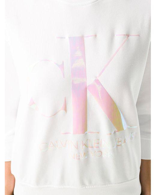 Calvin Klein ロゴ スウェットシャツ White