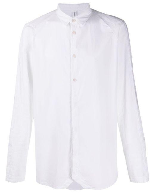 メンズ Transit ロングスリーブ シャツ White