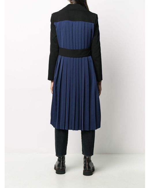 Karl Lagerfeld バイカラー コート Black