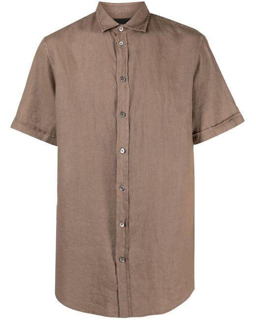 Рубашка С Короткими Рукавами Emporio Armani для него, цвет: Brown