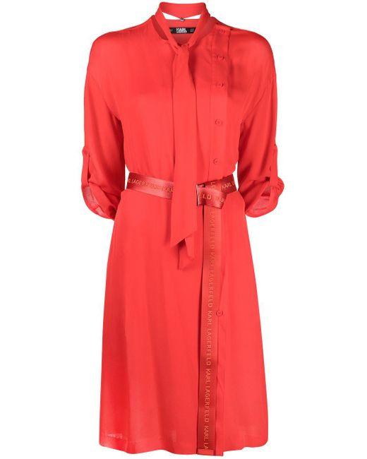 Karl Lagerfeld シャツドレス Red