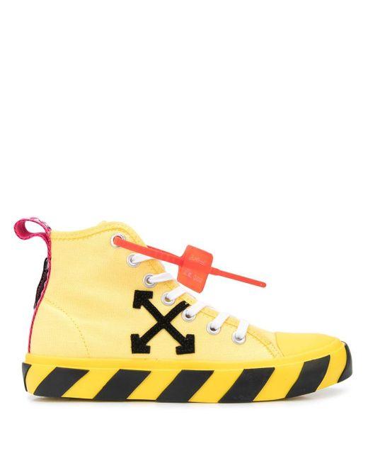 メンズ Off-White c/o Virgil Abloh ハイカットスニーカー Yellow