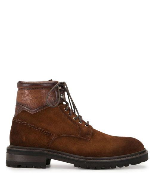 メンズ Magnanni Shoes レースアップ レザーブーツ Brown