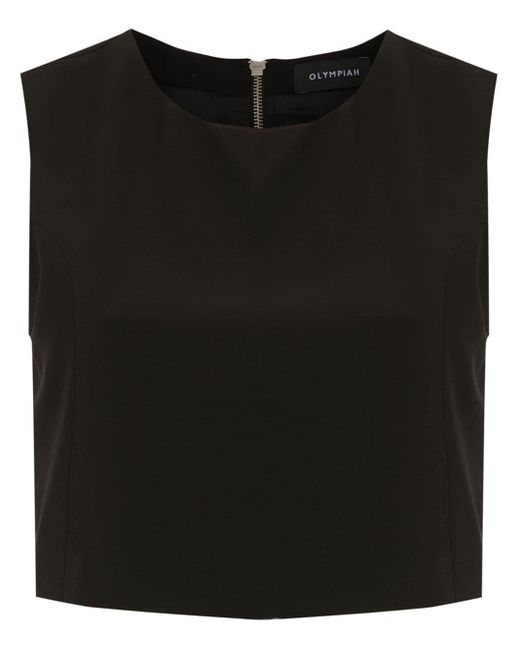 Olympiah Spezzia Cropped Top Black