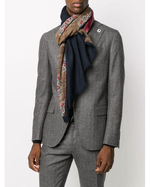 メンズ Dell'Oglio プリント スカーフ Multicolor
