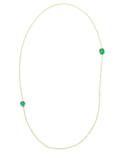 Ram - Green 18k Gold And Emerald Necklace - Lyst