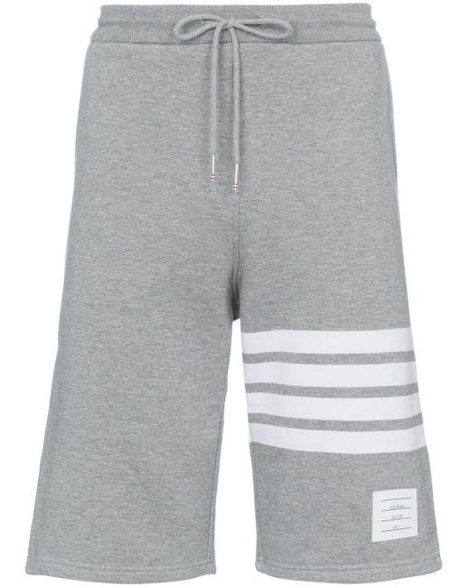 メンズ Thom Browne 4barジャージー スウェットパンツ Gray
