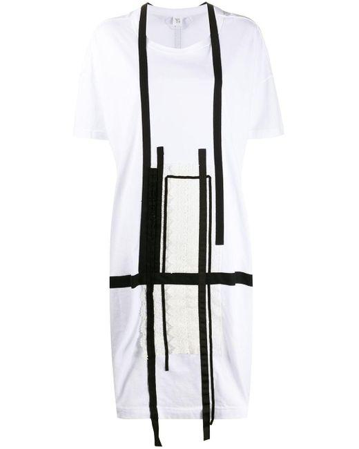 Y's Yohji Yamamoto オーバーサイズ Tシャツワンピース White