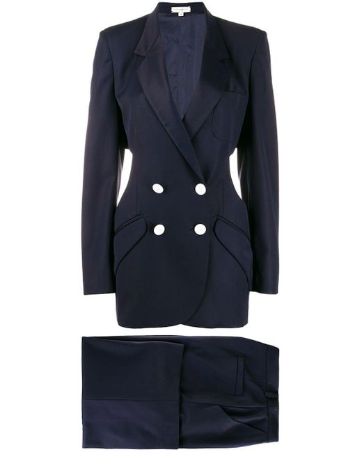 Natasha Zinko Blue Double-breasted Trouser Suit