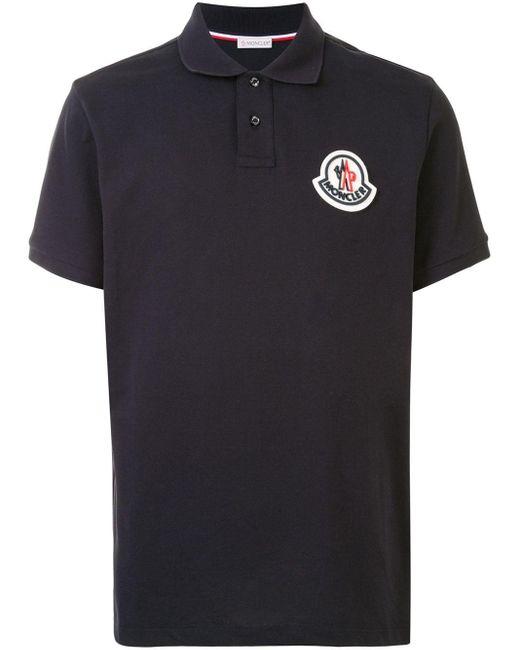 メンズ Moncler ロゴ ポロシャツ Black