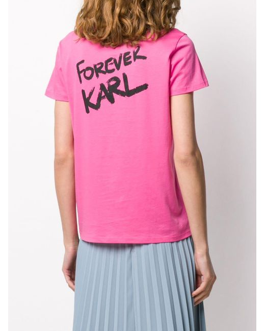 Karl Lagerfeld Sweat Forever Karl femme de coloris rose HmkcI