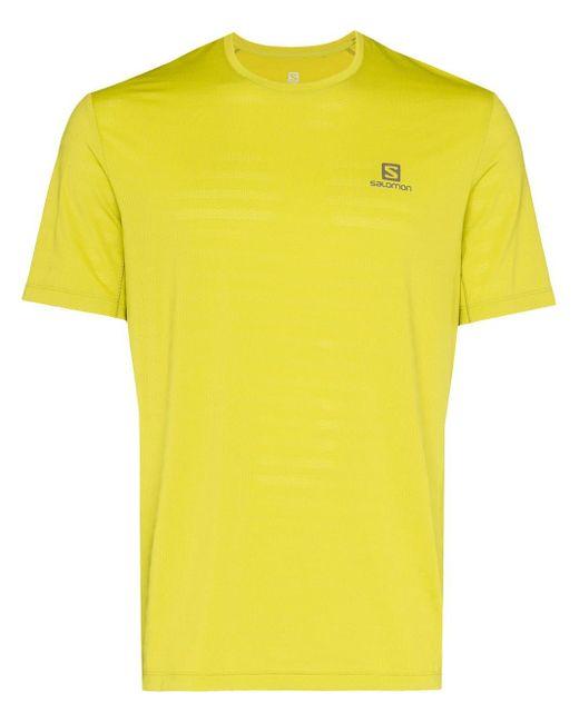 メンズ Salomon S/Lab ロゴ Tシャツ Yellow