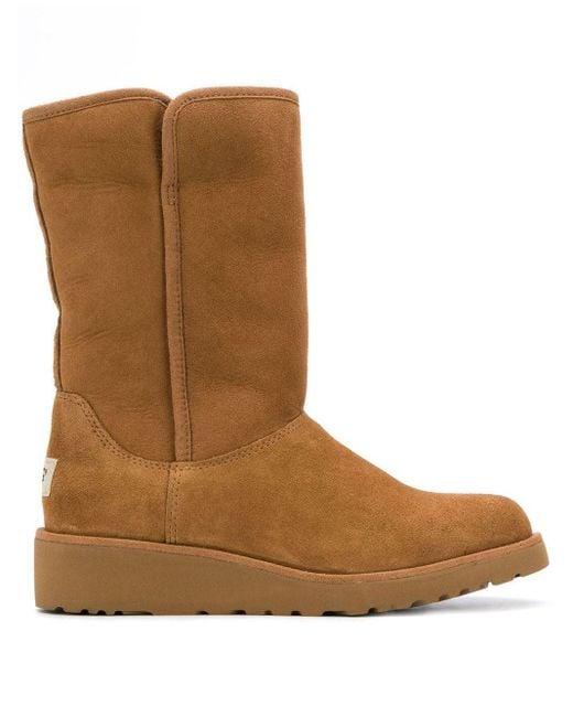 Ugg Low Heel Shearling Boots Brown