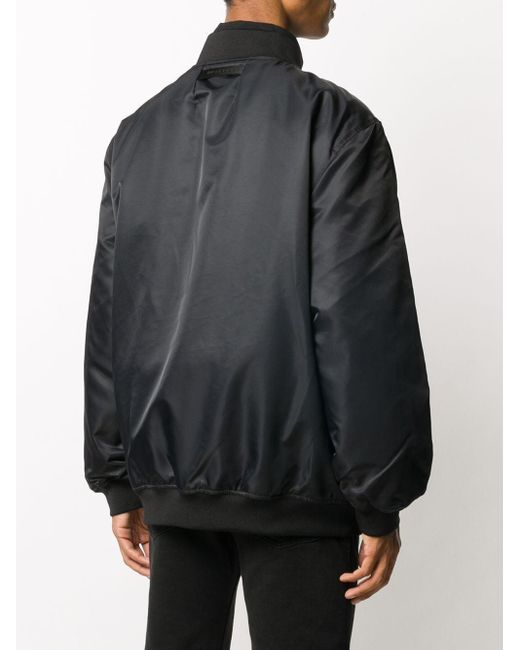 メンズ 1017 ALYX 9SM オーバーサイズ ボンバージャケット Black