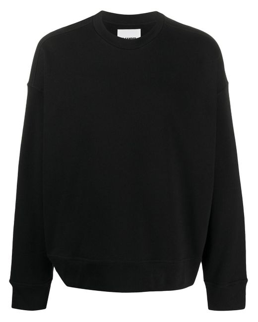 メンズ Jil Sander クルーネック スウェットシャツ Black