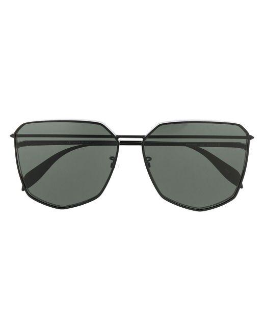 Alexander McQueen Piercing Shield サングラス Black