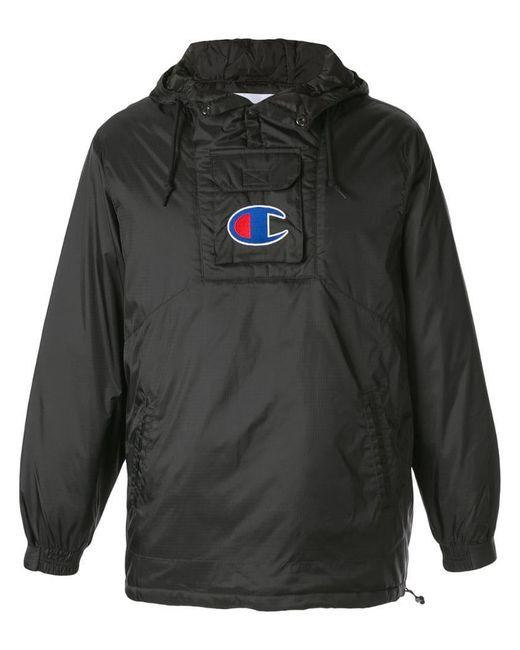 3cd9ad67 Supreme - Black X Champion Pullover Parka for Men - Lyst ...