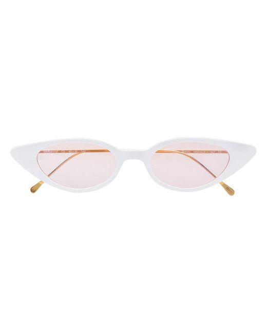 Illesteva - White Marianne Cat Eye Acetate Sunglasses - Lyst