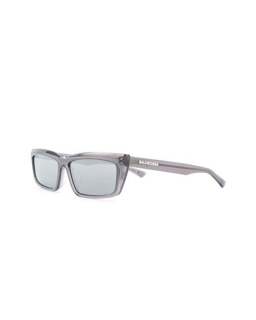 Gafas de sol Tip con montura rectangular Balenciaga de color Gray
