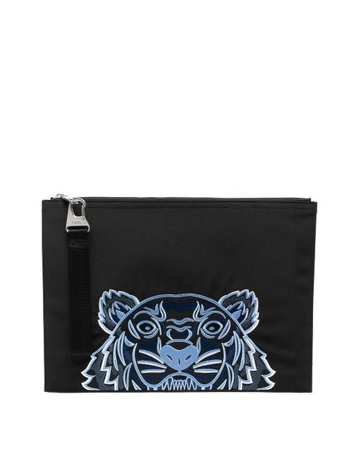 Pouch con motivo Kampus Tiger di KENZO in Black