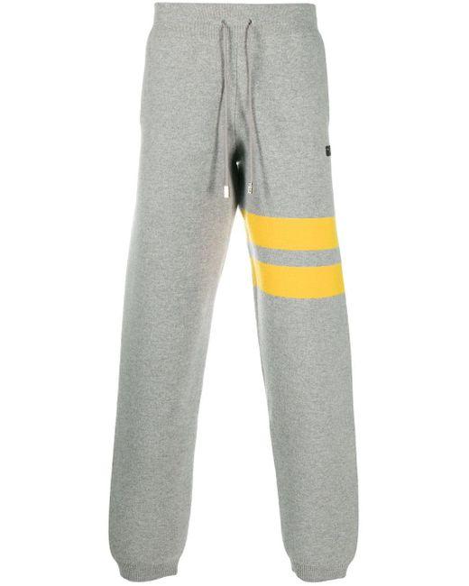 メンズ Gcds ロゴ トラックパンツ Gray