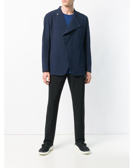 Issey Miyake Blue Double Breasted Blazer for men