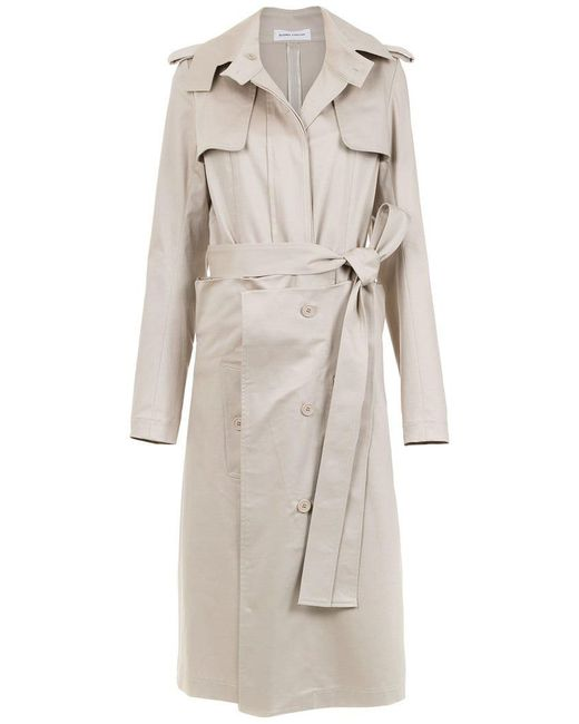Gloria Coelho - Natural Belted Layered Trench Coat - Lyst