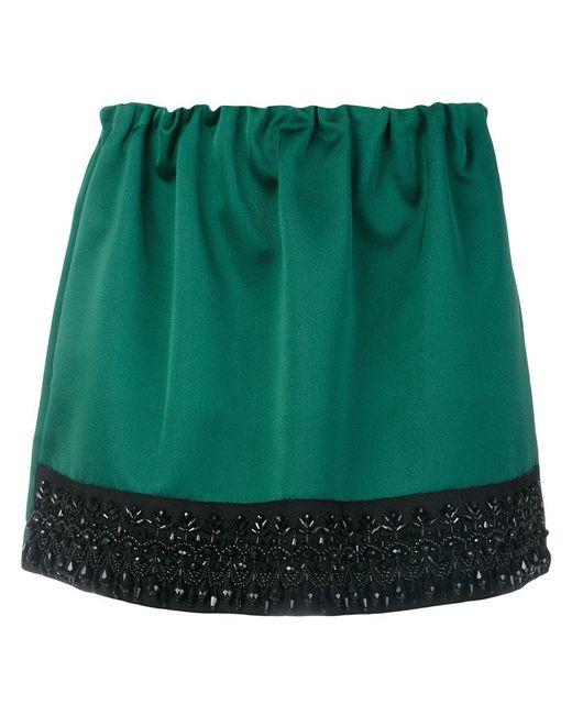 N°21 | Green Beaded Hem Mini Skirt | Lyst