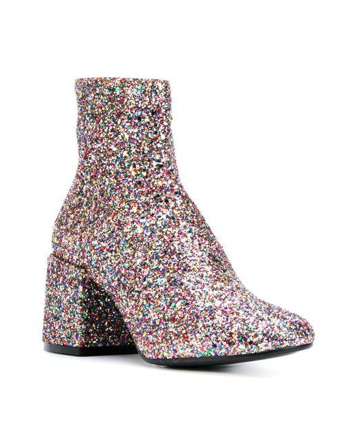 4450599db641 ... MM6 by Maison Martin Margiela - Multicolor Glitter Boot - Lyst ...