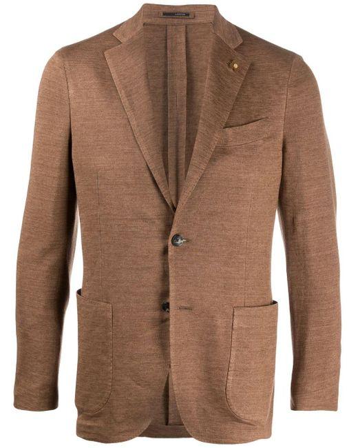 メンズ Lardini テーラード シングルジャケット Brown