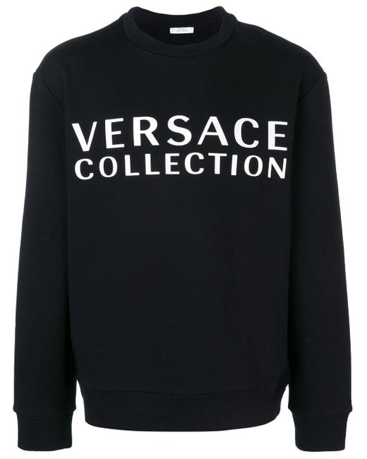 メンズ Versace ロゴ スウェットシャツ Black