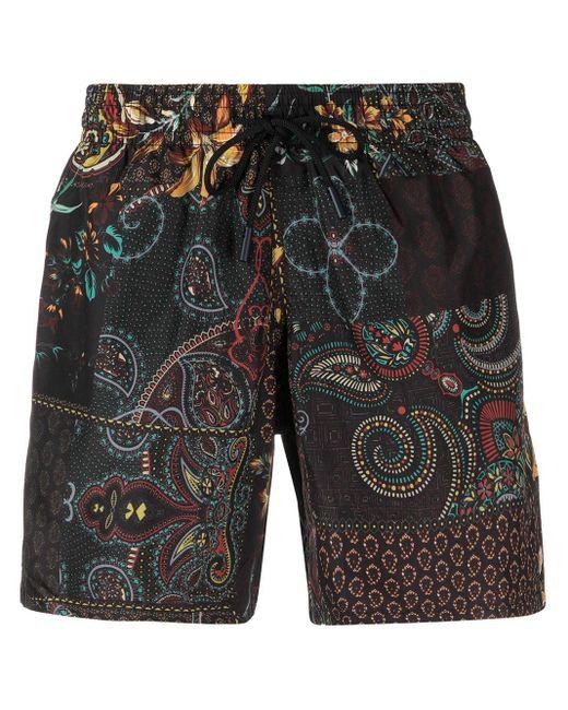 Плавки-шорты С Принтом Пейсли Etro для него, цвет: Black