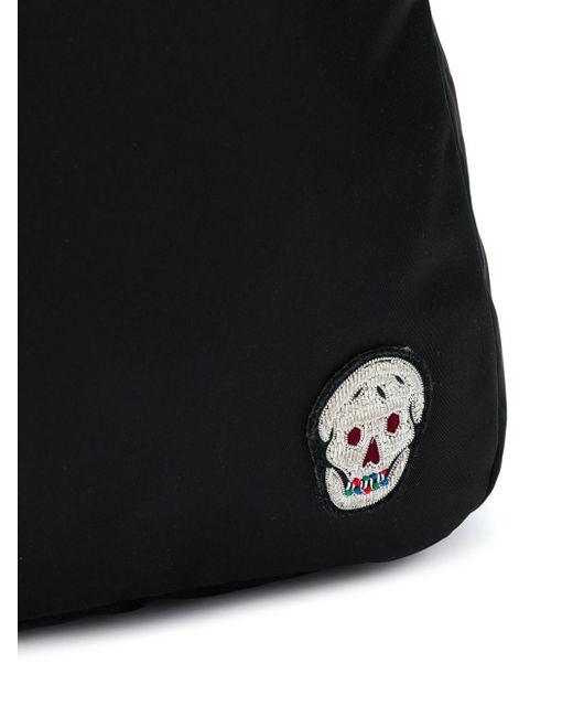 Рюкзак С Вышивкой Skull Alexander McQueen для него, цвет: Black
