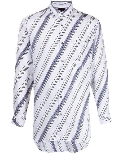 Полосатая Рубашка С Длинными Рукавами Emporio Armani для него, цвет: White