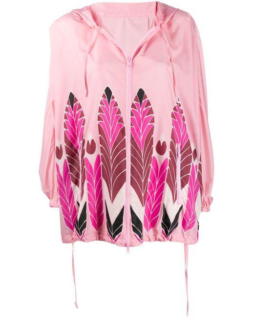 Valentino プリント レインコート Pink