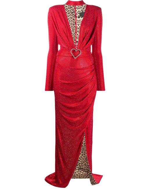 Philipp Plein プランジネック ドレス Red