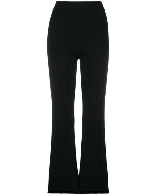 Stella McCartney - Black Flared High-waisted Trousers - Lyst