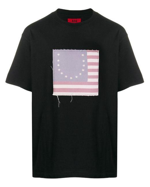 メンズ 424 パッチ Tシャツ Black