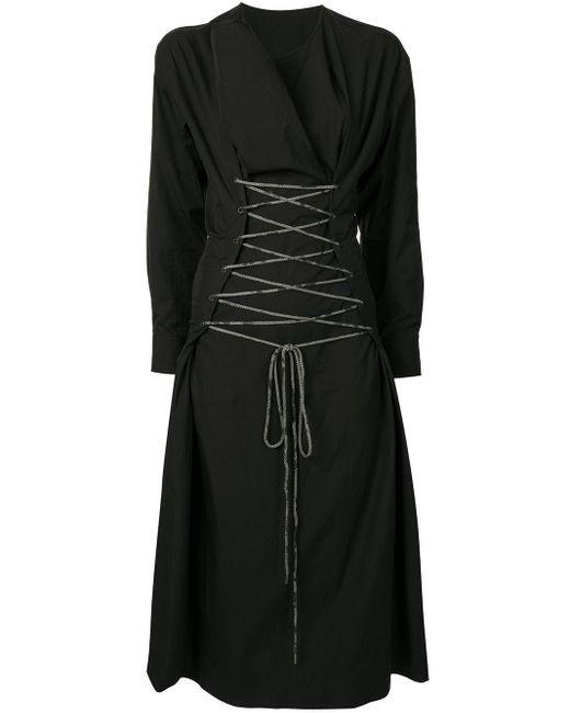 メンズ Yohji Yamamoto タイウエスト ドレス Black