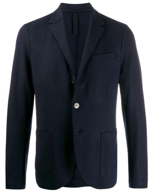 メンズ Harris Wharf London シングルジャケット Blue