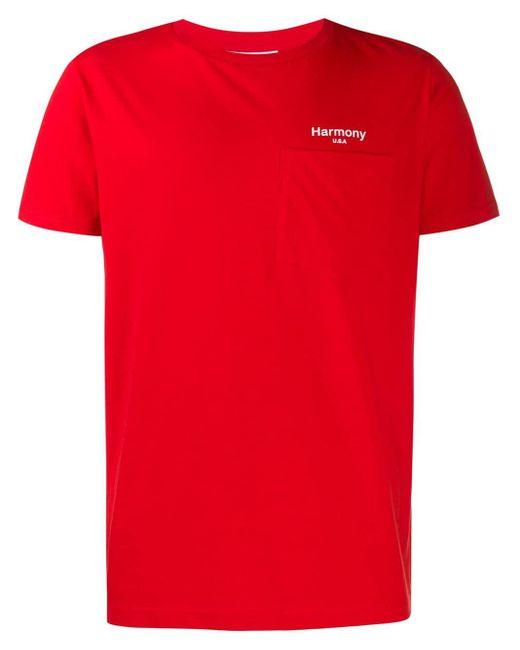 メンズ Harmony テディベア Tシャツ Red