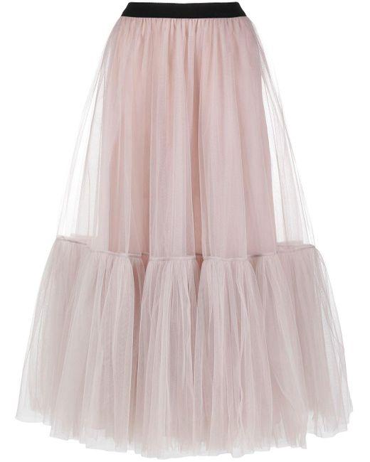 Parlor ティアード フレアスカート Pink