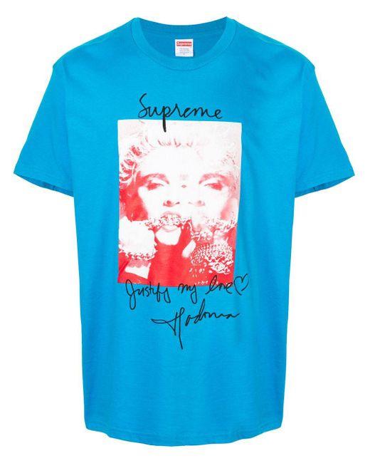 メンズ Supreme Madonna Tシャツ Blue