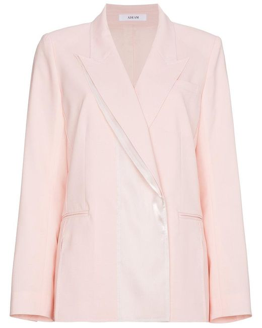 ADEAM - Pink Tailored Panel Jacket - Lyst