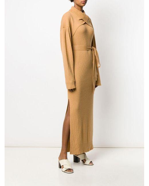 Nanushka Kira リブドレス Natural
