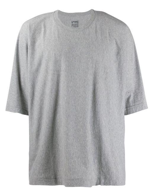 メンズ Homme Plissé Issey Miyake オーバーサイズ Tシャツ Gray