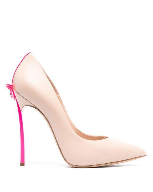 Casadei Blade リボン パンプス Pink
