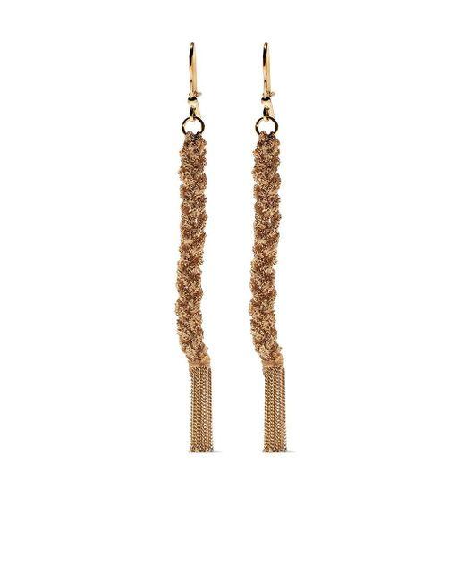 Плетеные Серьги-подвески Lucky Из Желтого Золота Carolina Bucci, цвет: Metallic