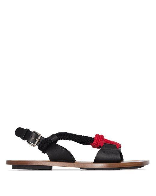Plan C Brown Rope Strap Sandals