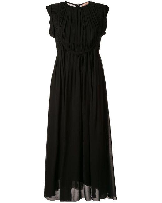 N°21 シャーリング ドレス Black